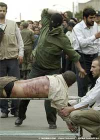PUBLIC WHIPPING IN IRAN